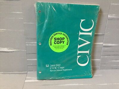 2001   2002 Honda Civic Coupe Service Manual Supplement Book
