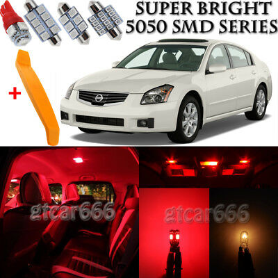 16 X Ultra Red Interior LED Lights Kit + TOOL For 2004   2008 Nissan Maxima