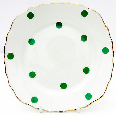 Vintage Royal Vale Bone China Polka Dot Green Spot Tea Plate