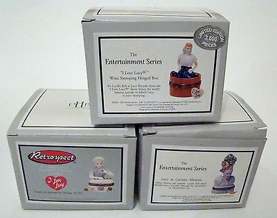 PHB Midwest of Cannon Falls Hinged Boxes  - Retrospect I Love Lucy SET of 3