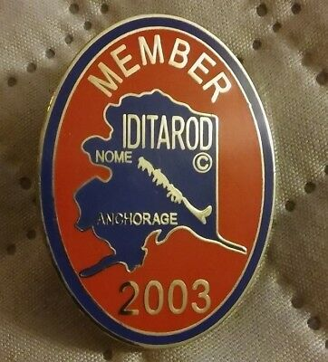 Iditarod 2003 Lapel Pin - Nome Anchorage Alaska Dog Sled Race Alaskan Member Pin