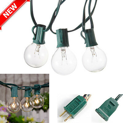 Outdoor Globe String Lights 25ft G40 Waterproof Patio Bulbs Party Decor