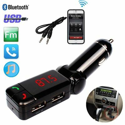 Wireless Bluetooth Car FM Transmitter Radio Adapter MP3 USB Mobile Charger Uk