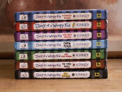 Diary of a Wimpy Kid ~ hb ~ Lot of 7 books ~ Jeff Kinney
