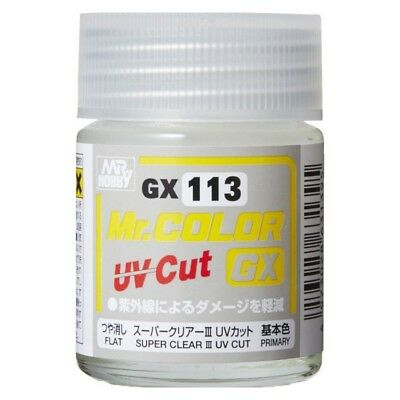 MR SUPER CLEAR Mr Hobby GX-113 FIJADOR FIXATIVE MATT / FLAT UV CUT 18ml