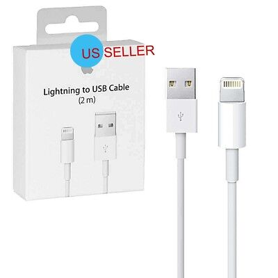 2M 6FT Genuine OEM Apple Lightning USB Cable Charger iPhone  X 8 7 6 6S Plus 5C