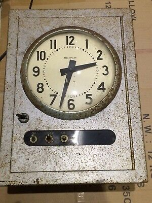 Simplex Master Time Recorder - Used - For Repair Or Spares