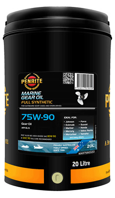 Outboard,sterndrive Gear Oil Penrite High Perf Synthetic Gl5 20 Ltr Blue Colour