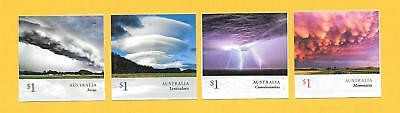 """2018 Australian """" Cloudscapes """" ~ S/a Set Of 4 From Booklets ~ Mint Un Hinged"""