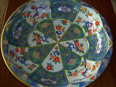 Daher Beautiful Colors-Vintage Decorated Ware Made in England -Octagon Detail