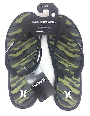 Men/'s Hurley One /& Only Printed Sandals Flip Flops MSA0000270-00AA Black Camo