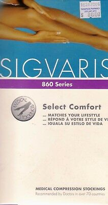 Sigvaris 860 Series Medical Compression Stockings 20-30 mmHg Size S2 Black