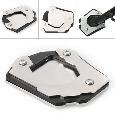 For BMW F800GS/ADV 08-17 Kickstand Foot Side Stand Extension Pad Support Silver