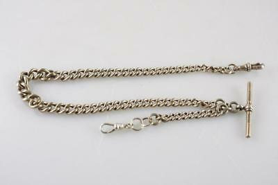 ANTIQUE DH & Co MEXICAN STERLING SILVER 925 ROSE GOLD POCKET WATCH FOB CHAIN
