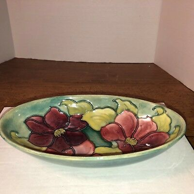Moorcroft, Lovely Floral Oval, tagged at the bottom, Made in England