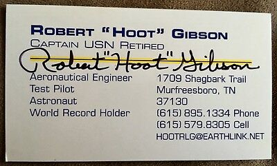 Robert hoot gibson nasa astronaut signed business card authentic robert hoot gibson nasa astronaut signed business card authentic autograph colourmoves