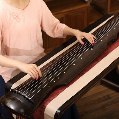 Professional Chinese Aged Fir Guqin 7-Stringed Zither Instrument  - Fu Xi Style