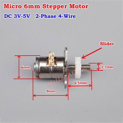 DC 3V 2-phase 4-wire Micro 6mm Stepper Motor Linear Actuator Screw Block Slider