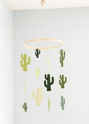 Cactus baby mobile