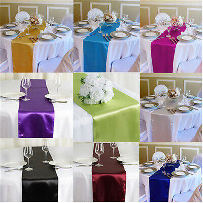 """Satin Table Runner For Wedding Home Party Banquet Table Decoration 12""""x 108"""""""