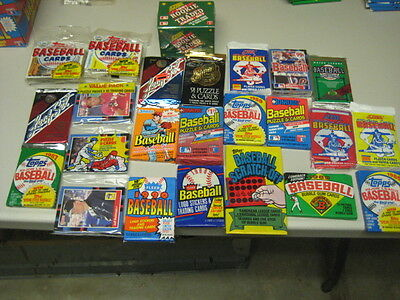 Old Baseball Cards - Unopened Packs  Huge Vintage 100 Card Lot