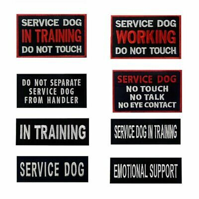 Embroidered Patches Badges Hook Loop Sew on Service Working Dog Pet Vests Emblem