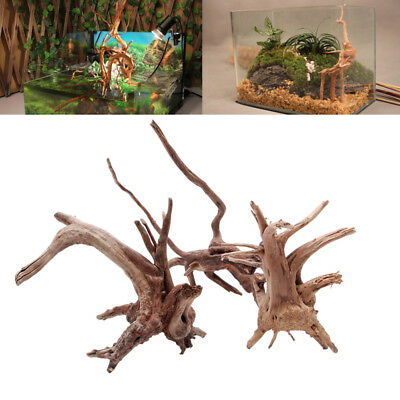 Wood Natural Trunk Driftwood Tree Aquarium Fish Tank Plant Ornament Decoration