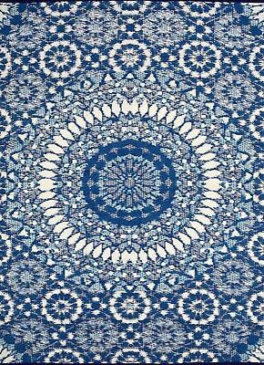 *New Arrivals* Indoor/Outdoor Mats - Chatai 2773 - Blue/White - 120x170-RRP $95