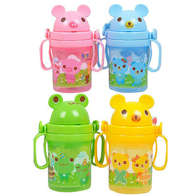 Drinking Bottle Sippy Cups With handles Baby Kids Straw Cup Cute Design P Gift