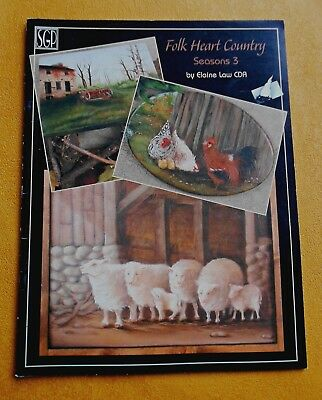 FOLK  HEART  COUNTRY Seasons 3 ~ By Elaine Law CDA ~ 2003 SC Folk Art Book