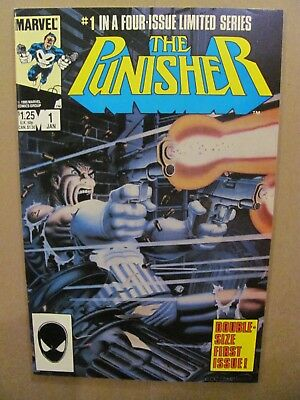Punisher #1 #2 #3 #4 #5 Complete Marvel Comics 1986 1st Solo Series