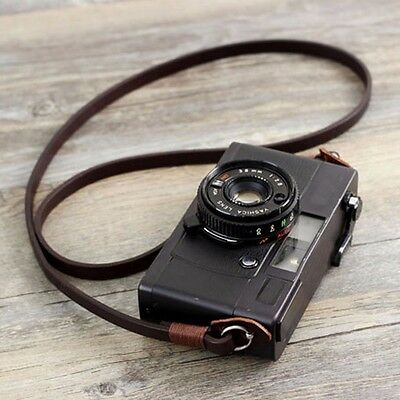 Genuine Leather Camera Neck Shoulder Strap Sling  for SLR DSLR Vintage Brown New