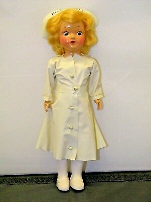 "Vintage 1950s MISS CURITY Promo Advertising 7"" Nurse DOLL"