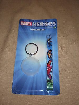 BNIP Marvel Heroes Lanyard Kit and keyring in EC Woolworths collectable discs