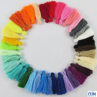 10pce Cotton Tassel Approx 25-30mm Select Colour Suit Earrings, Bracelets & More