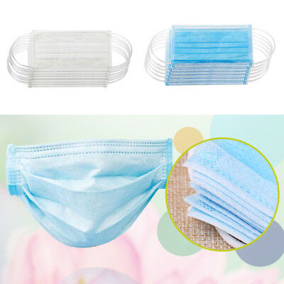 50X Dental Medical Mask Surgical Dust Ear Loop Face Mouth Mask Disposable Faddis