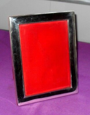 Large Size 9 Inch Hallmarked Sterling Silver Classic Design Photo Picture Frame