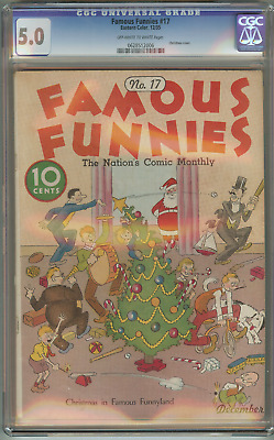 Famous Funnies #17 (CGC 5.0 OW/W)  Super Rare 1935 Eastern Color Comics