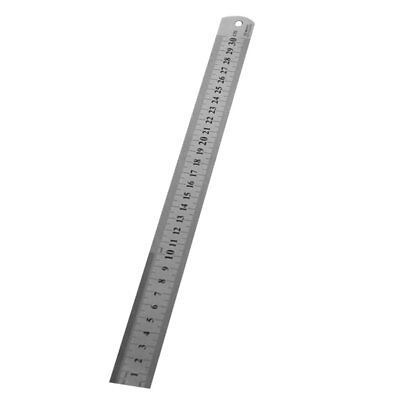 Stainless Steel Metal Ruler 30CM Straight Ruler Double Sided School StationeryC1