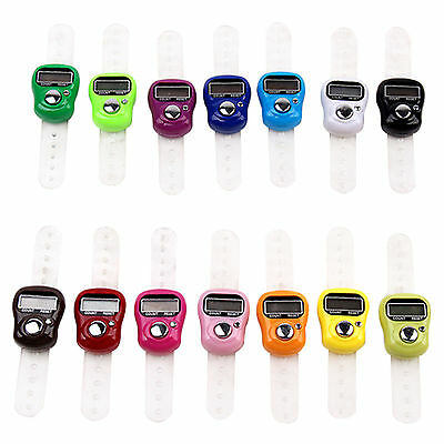 Digital Finger Ring Tally Counter Hand Held Knitting Row Counter with Battery