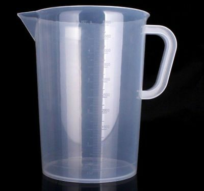 Hydroponics 5000ml 5L Litre Plastic Measuring Jug Liquid Nutrients Water Cooking