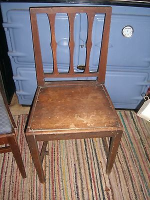 Country Antique Chair with wooden seat needing repair