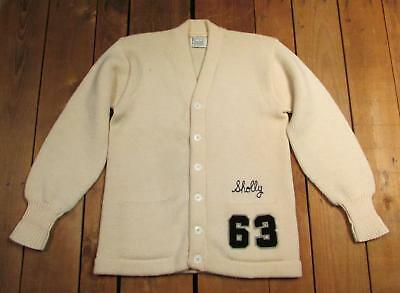 Vintage 1960s Jahre Wolle uni Mixbecher Strickpullover Award yearite Co.Sholly '