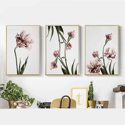 Nordic Minimalist Tulip Flower Poster Modern Print Home Decor Canvas Painting