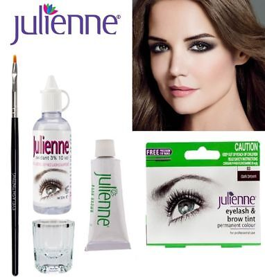 Julienne Professional Intensive Eyelash  & Eyebrow Dye - Dark Brown Full Kit !!*
