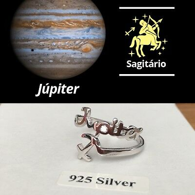 Genuine Solid 925 Sterling Silver Ring Constellation Zodiac Sagittarius jupiter