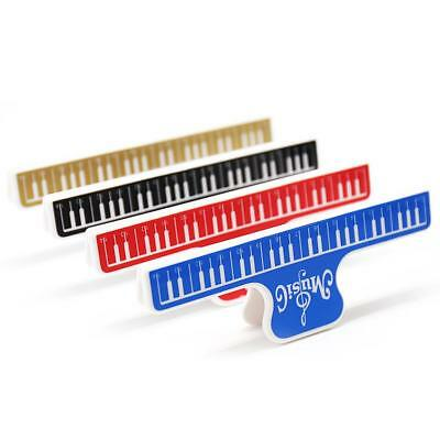 Music Score Fixed Clips Book Paper Holder for Guitar Violin Piano Player #EB