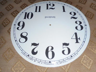 For American Clocks-Round Ingraham Paper Clock Dial-140mm M/T-Arabic Numerals
