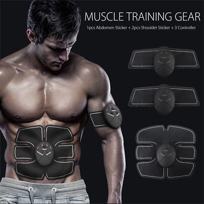 EMS Muscle Stimulator Training Gear ABS Trainer Fit Body Home Workout Y3