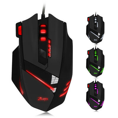 ZELOTES T-60 7200DPI Professional Maus USB Wired Optical 7 Buttons Gaming Mouse